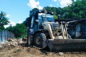 Расчистка участка, демонтаж здания Горячий Ключ